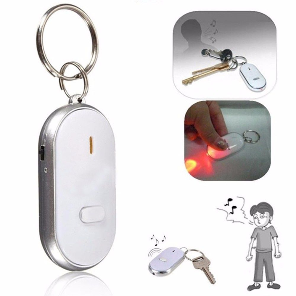 KISSWIFE 2018 New LED Anti-Lost Key Finder Find Locator Keychain Whistle Beep Sound Control Torch A Direct Sale