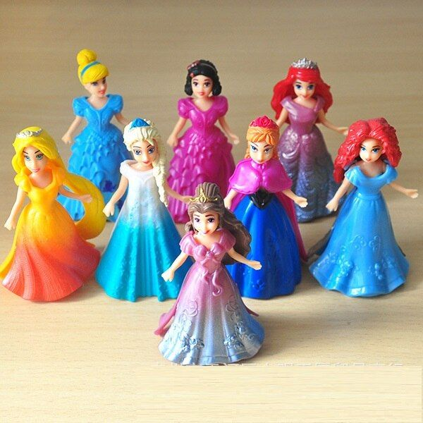 ThinkEasy Set Selling My Cute little Anna and Eelsa Sofia Princess Toy Action Poni Unicorn vinyl Girl Birthday Gift