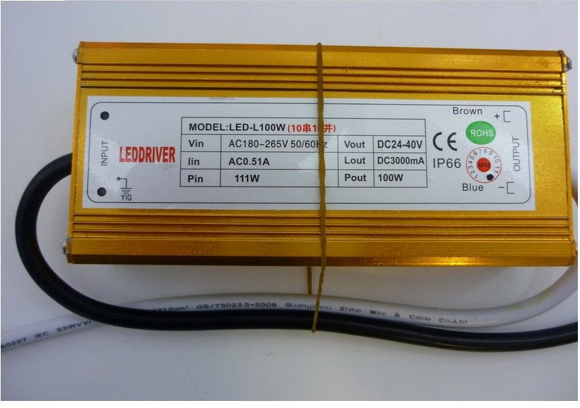 3pcs/lot 3000mA 3A Constant Current Source LED Driver 100W 10 series 10  parallel  fedex free fast shipping