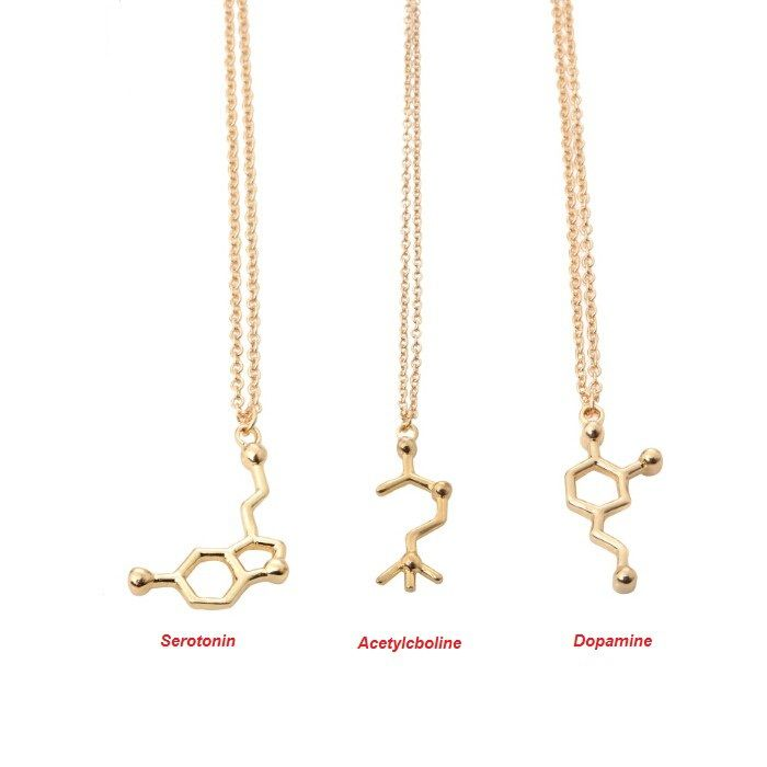 Shuangshuo Boho Fashion Acetylcholine Molecular Necklace Molecule Science Chemical Jewelry Eternal Memory Necklace Chocker N139