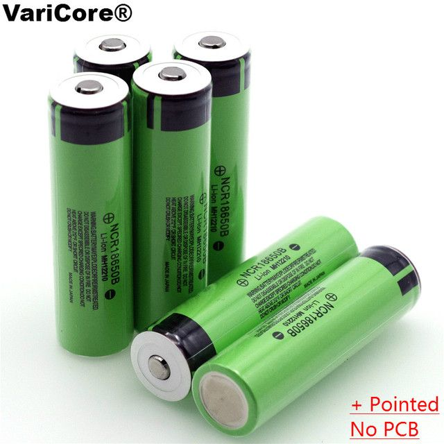 New Original 18650 3.7 v 3400 mah Lithium Rechargeable Battery NCR18650B with Pointed(No PCB) For Panasonic batteries
