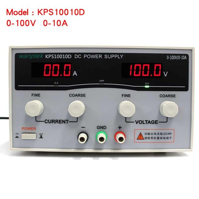Wanptek KPS10010D Adjustable Display DC power supply 0-100V 0-10A High Power Switching power supply 1000W