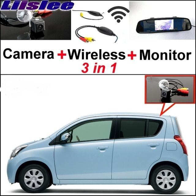 Liislee 3 in1 Special Rear View Camera + Wireless Receiver + Mirror Monitor Easy Back Parking System For Mazda Carol 2010~2014
