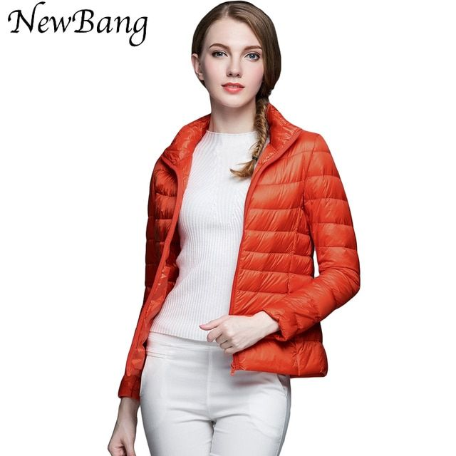 Multicolor Ultra Light Down Jacket Women Stand Collar Regular Portable Coats Women's Overcoat With Carry Bag Plus Customized