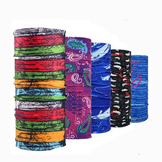 Wholesale 500 pcs Novelty Multifunctional Scarf Unisex  Magic Headband Riding Veil Multi Head Scarves Mask Free