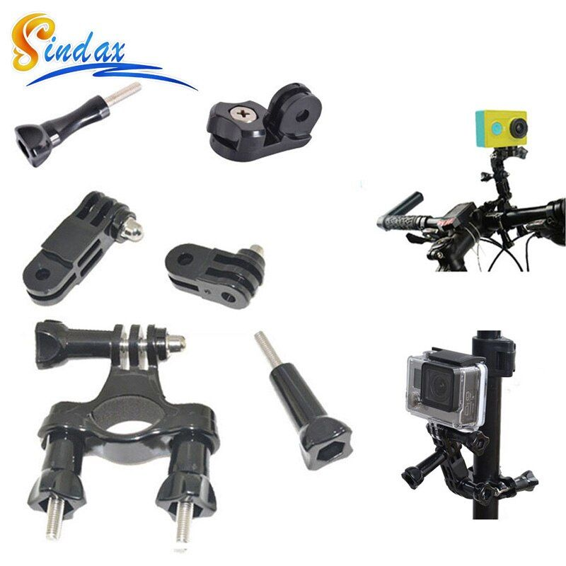 Handlebar Bike Mount for GoPro Action Cameras SeatPost/Clamp Bicycles Metal Screws 3-Way Adjustable Pivot Arm Fits for all GoPro