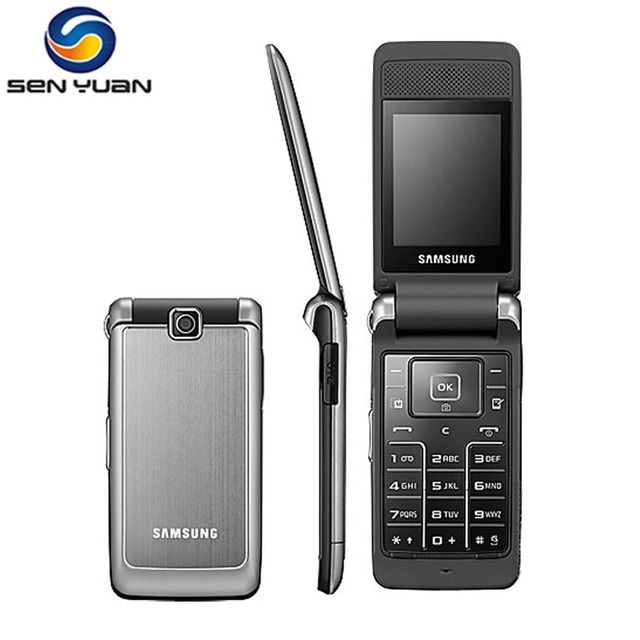 Original Unlocked Samsung S3600 Mobile Phone 1.3MP 2.8`` GSM 2G Flip S3600 Cell phone Free Shipping
