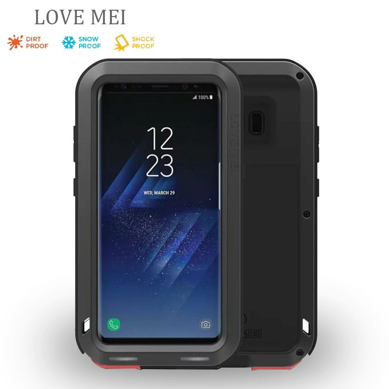 for samsung s8 g9500 Love Mei Shockproof Metal Aluminum Case Cover For samsung galaxy s8 Three proofing love mei phone cases
