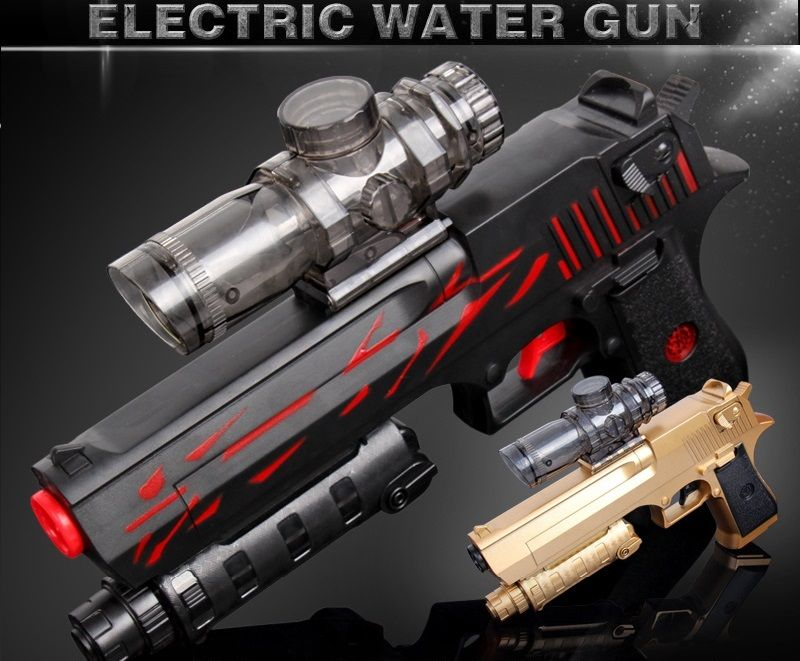 Desert Eagle Charging a toy gun Electric 9mm water bullet continuous emission gun  birthday gift Children Family Outdoor Game