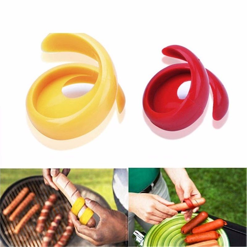 2Pcs/set manual fancy sausage cutter spiral barbecue hot dog cutter slicer cutting auxiliary gadgets cooking utensils