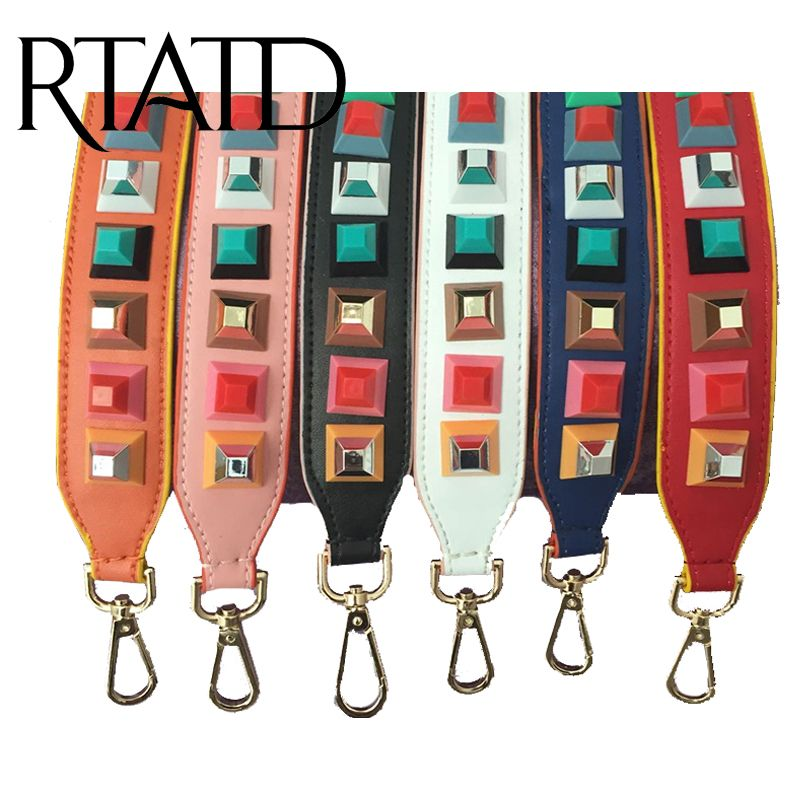 RTATD 2016 Fashion Leather handbag strap trendy prefall stud design bags strap bag parts bag accessory easy matching M2309