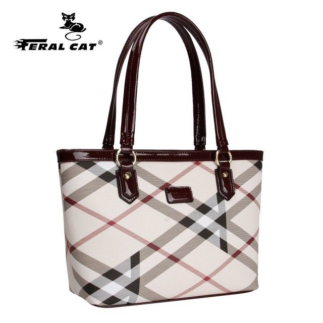 High Quality Tote Authentic Luxury Brands Women Bags 2017 New Designer Handbags Womens Plaid Shoulder Bag Free Shipping 6022