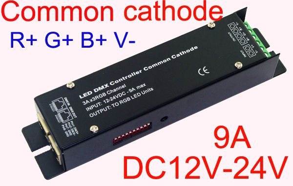 High Frequency 3CH DMX512 led RGB controller Constant voltage common cathode DMX decoder,3A each color WS-CC-DMX-32 for LEDlight
