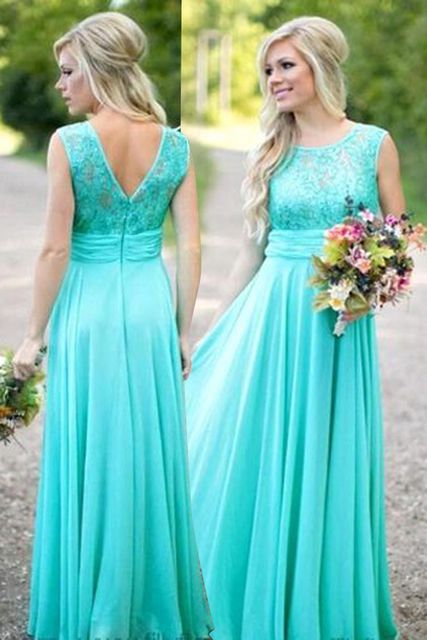 Wedding party dress 2017 Chiffon bridesmaid dress floor length Lace girl long dress vestidos de fiesta largos plus size