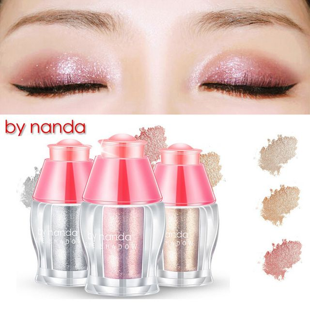 Loose Shimmer Eyeshadow Pigments Eyes / Face Highlighter Powder Makeup 3 Colors glitter white / champgne gold / rose gold