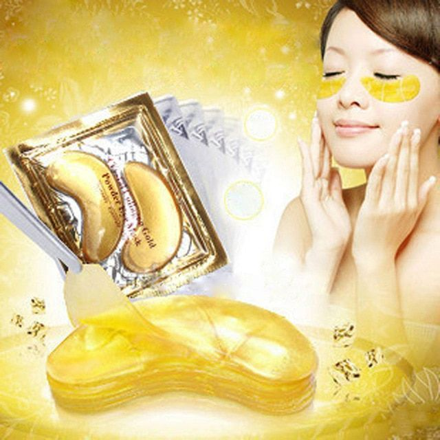 30pcs=15Bags High quality Gold Crystal Collagen Eye Mask Hot sale Eye Patches Colagen Dark Circles For Women