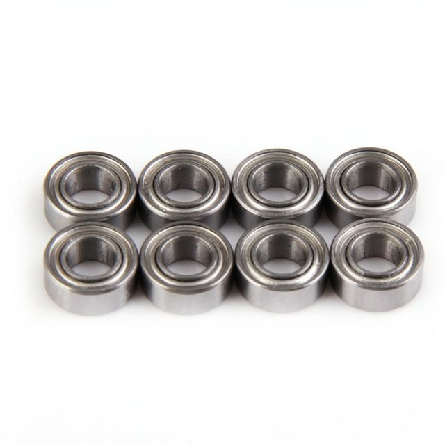 8 PCS 10*5*4 02139 HSP Ball Bearing RC 1/10 Car Buggy Truck Ball Bearing Spare Parts Useful Accessories&props
