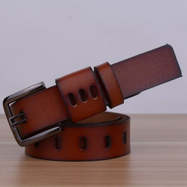 High Quality Genuine Leather Women Belt Classics Design Leather Female Belt Strap Luxury Vintage Style Strap for Women