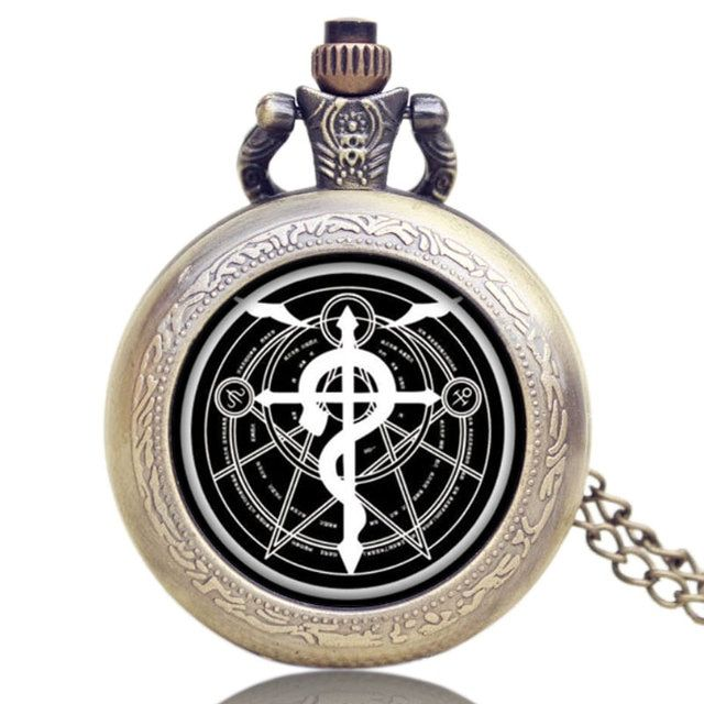 Retro Quartz Analog Pocket Watch GA Fullmetal Alchemist Watch Women Mens Gifts P1102