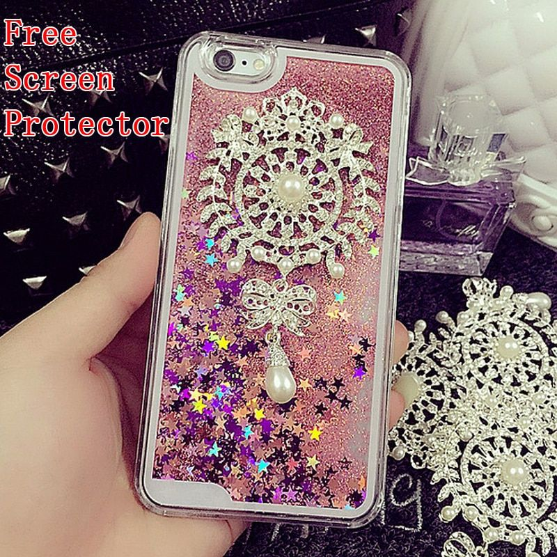 Dynamic Quicksand diamond Case For Samsung Galaxy S8 Plus S7 S6 edge plus S3 S4 S5 note 5 4 3 Coque Bling Liquid Glitter Capa