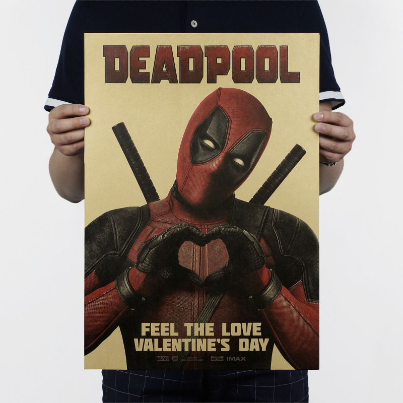 51x36cm Deadpool Ryan Reynolds X Super Hero X-Men Characters Animation Wei Kraft Movie Posters Wall Stickers