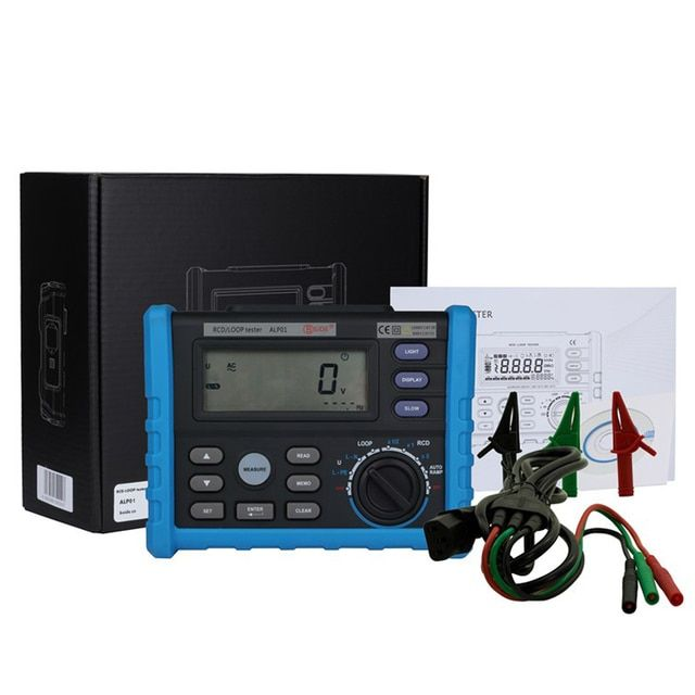 Bside ALP01 Professional LOOP/RCD Tester Trip-out Time Current Voltage Frequency Loop Resistance Measurement USB with retail box