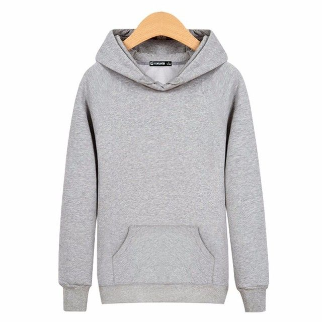 Men Sweatshirt Hood Cotton O-neck Long Sleeved Sweatshirts Blank Solid Hoodies Men