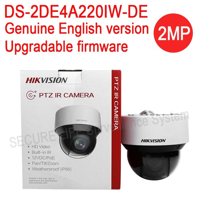 In stock English version DS-2DE4A220IW-DE 2MP network IR mini PTZ camera outdoor,20x optical zoom, P2P ip cctv camera 50m IR