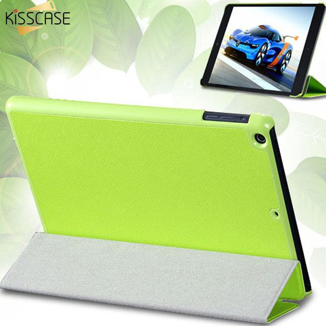 KISSCASE Three Fold Stand Leather Flip Case For iPad mini 1 2 3 Protective Shell Tablets Accessories Full Protective Cover Coque