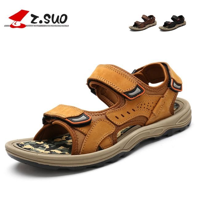 Z. Suo Men Sandals New Fashion Male Korean Tide Summer Breathable Leisure Sandals Size 39-44