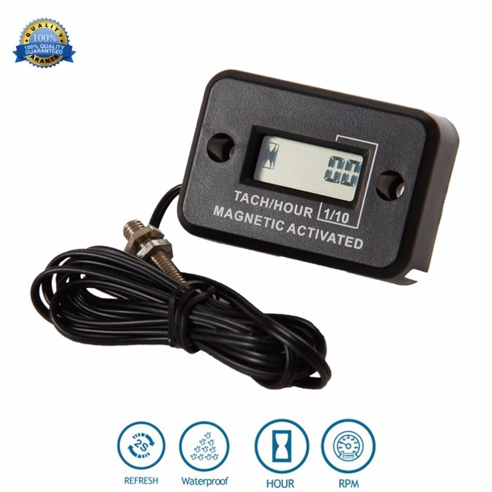 Waterproof Digital Diesel Gas Engine Hour Meter Tachometer for generator Excavator UTV tractor ditch cleaner agrosprayer HM012C
