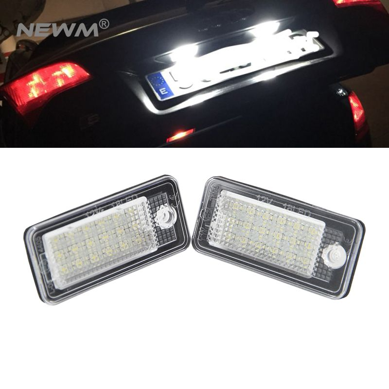 3528SMD 12V led license light car pats license number plate lamps for Audi A6 /C6 (4F)/ S6/ A8 /S8 D3 (4E)