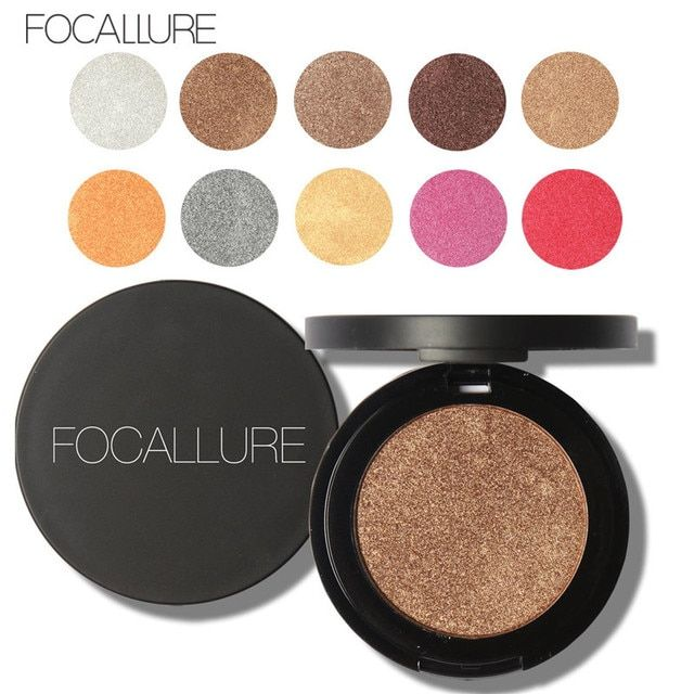 FOCALLURE Professional Diamond Eye Shadow Palette Make Up Waterproof Shimmer Eyeshadow Pigment with Brush Makeup Cosmetics BO