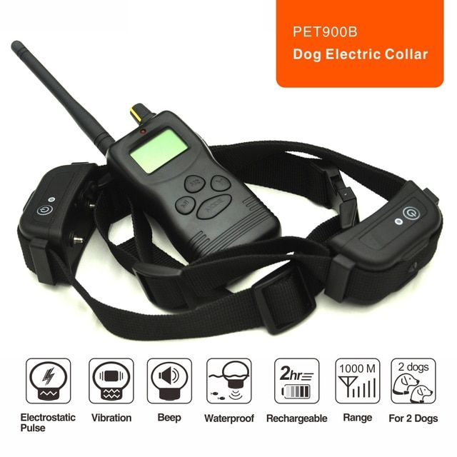 3 in 1 remote bark control collar electrid dog barking collar pet training shock electronic dog no bark collar
