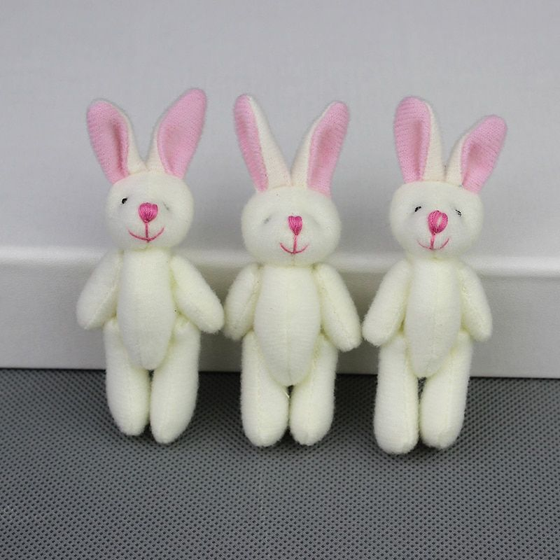 20pieces Mini Stuffed Jointed Rabbit,plush toys for Cartoon bouquet doll , Candy BOX TOY,DIY Rabbits Wholesale
