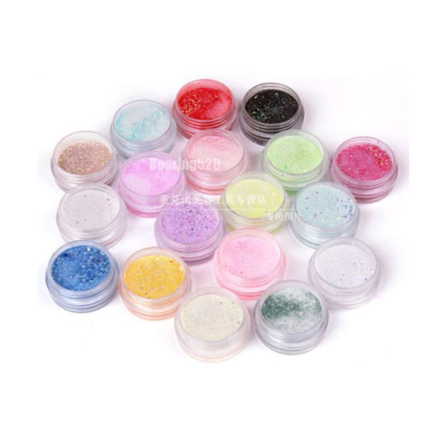 18  Beauty Nail Gel Nail Art Acrylic Powder Colors Set Bulider Cave Acrylic Nail Sculpture For UV Gel Tips Clear