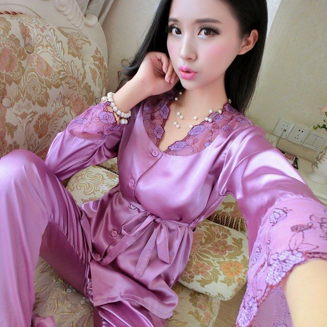 New arrival   women Sleepwear  female autumn  long-sleeve sleepwear twinset sexy and large size fashion lounge free shipping-b24