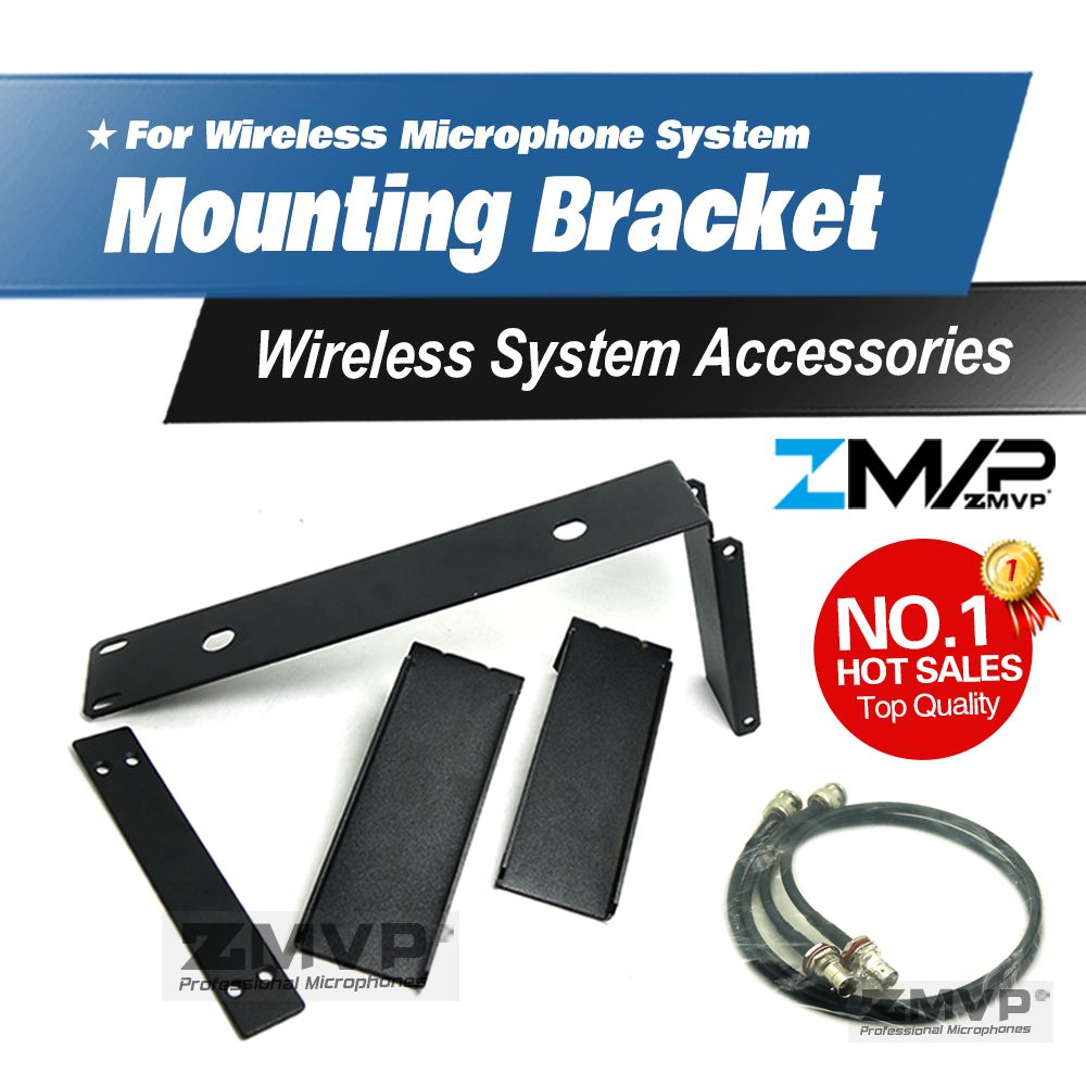 Free Shipping! Rack Mounting Bracket Rack Kits 2 Antenna Extension Cable For SLX Wireless Microphone System Diversity Receiver