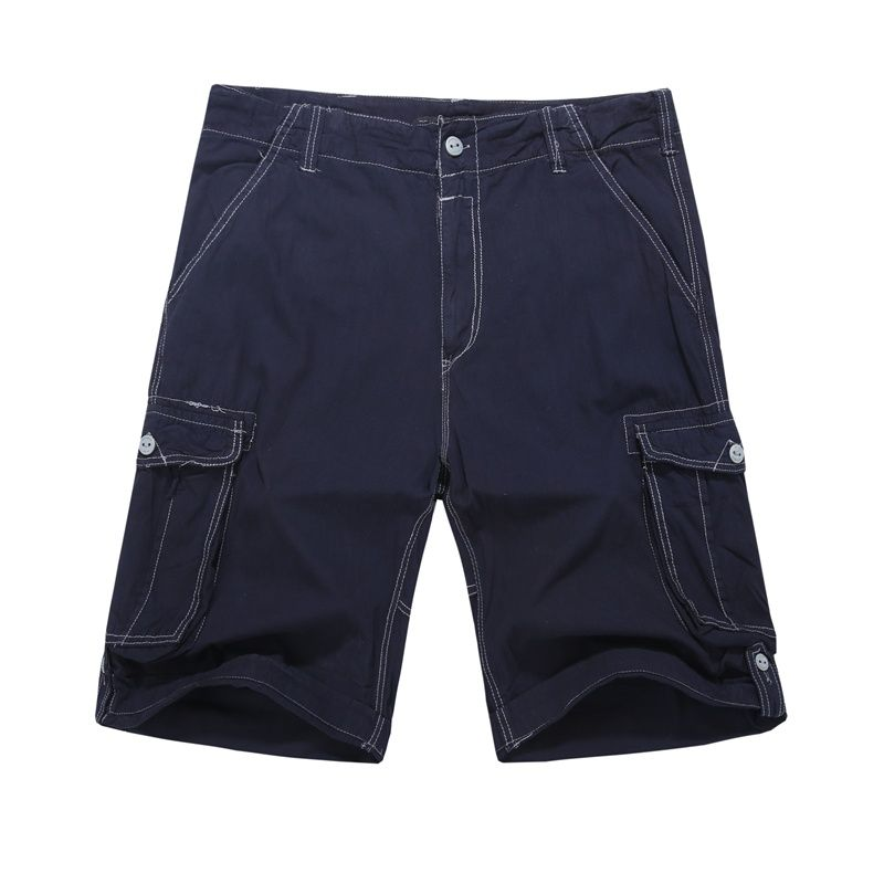 MADHERO Man Shorts Casual Brands Clothing Solid Plus Size 30-44 Cargo Shorts Male Pantalon Corto Hombre Men Casual Shorts Summer