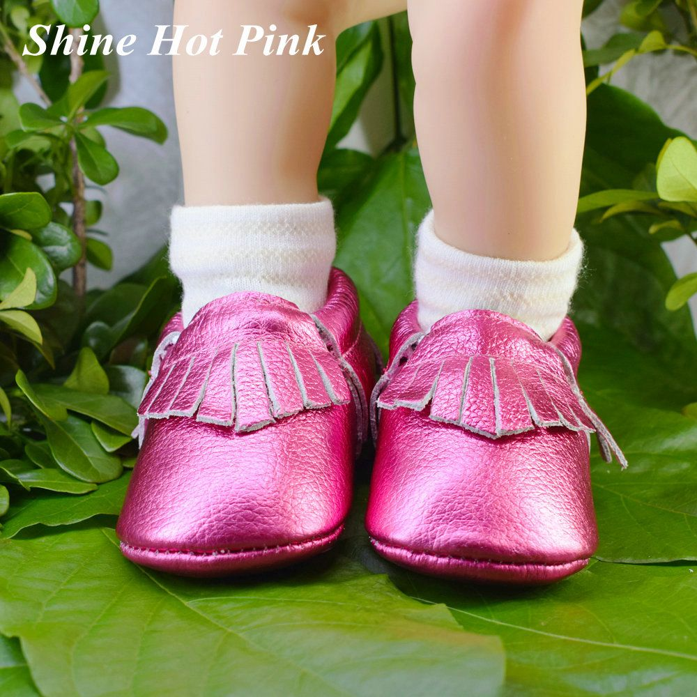 100% Genuine Leather Baby Moccasins hand-made girls Baby Shoes boys gold tassel First Walker newborn shoes baby schoenen