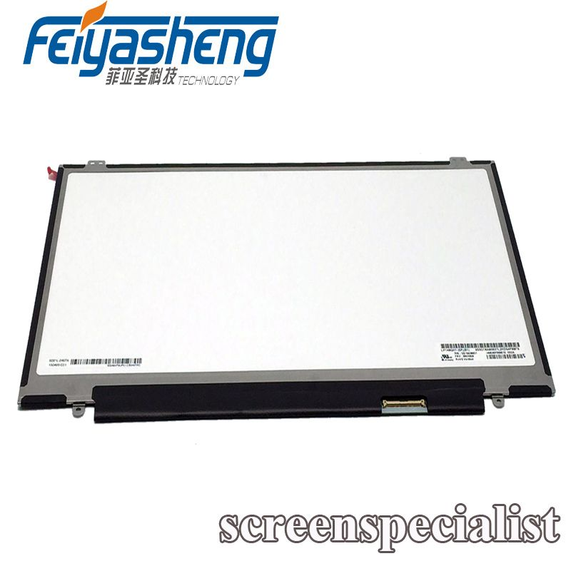 ( 1 year warranty ) 5 PCS 14''Laptop LCD LED Screen LP140QH1.SPB1 For Lenovo X1 Carbon 2560*1440 Non-touch