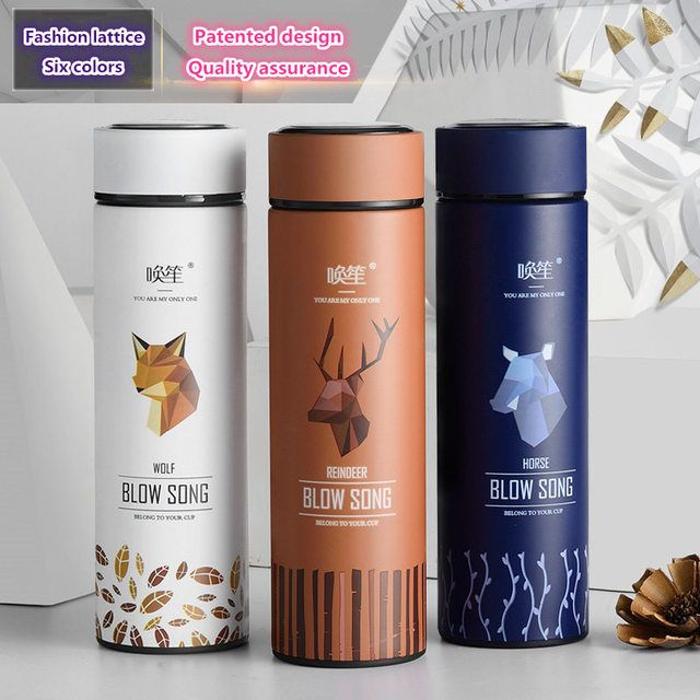 2018 New fashion Brand BLOW SONG creative design thermal mug heat water cup super insulated vacuum flasks suit for tea or milk