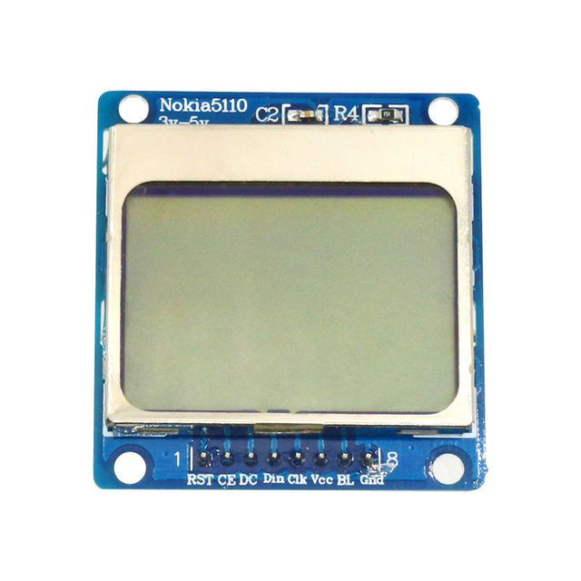 Glyduino for Nokia 5110 84*48 Blue Backlight LCD Module for MCU Development Board LCD Module Adapter PCB for Arduino