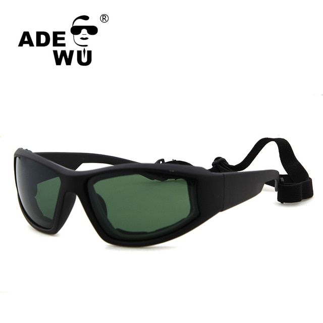 ADE WU Military Sunglasses Men Brand Designer Army Steampunk Goggles Sun Glasses Tactical Sunglass With Case Gafas UV 400