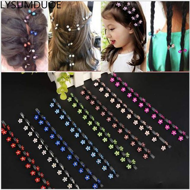 Flower Children Claw Jewelry Hair Accessories Hair Clip BB Girl Cute Crystal Shining Snowflake Floral Shape Mini Claw Accessory