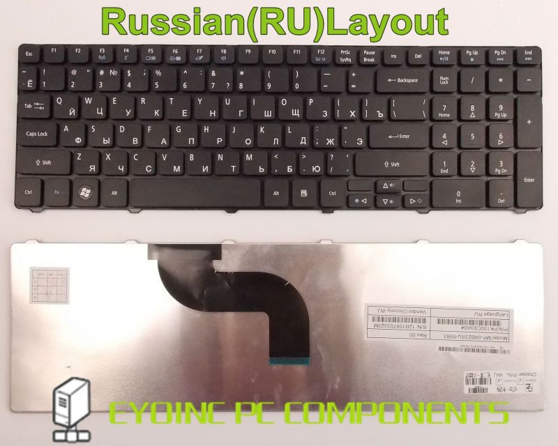 Laptop Keyboard for Acer Aspire 7540 7540G 7551 7551G 7552 7552G 5749 5749Z RU Russian Version