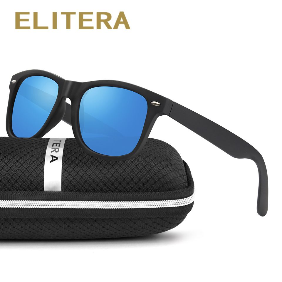 ELITERA Classic Sunglasses Men Women Brand Polarized Sun Glass Polarized lens Geek Oculos Gafas De Sol with case
