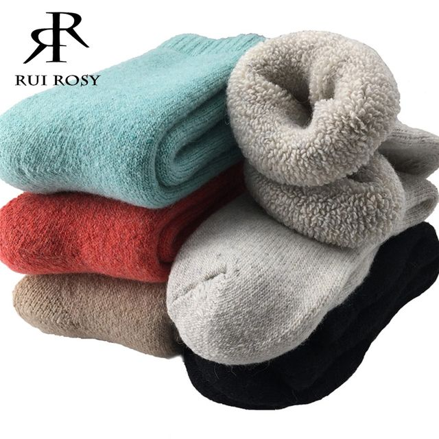 Super Thick Merino Wool Socks Women Winter Thermal Warm Socks Female Fashion Casual Colorful Thick Towel Socks Black/White(3Pair