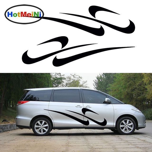 HotMeiNi 2 X Abstract Art Cheerful Rhythm Stripe Running Car Stickers Happy Life for Truck Door Kayak Canoe Vinyl Decal 9 Colors
