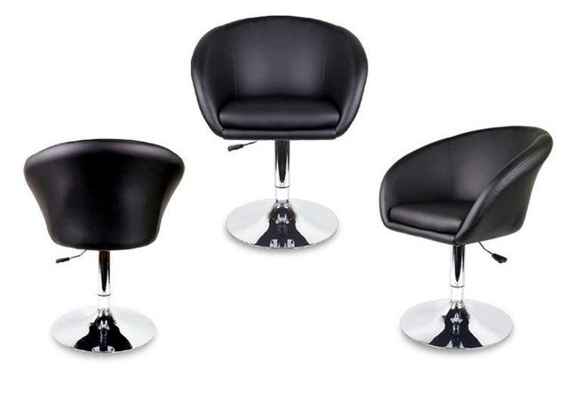 North American Hair Salon chair Massage Office Stool retail wholesale black color free shipping